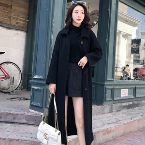 Image 4 - Ailegogo New Autumn Women Korean OL Style Long Coat Casual Turn Down Collar Single Breasted Loose Fit Female Outwear