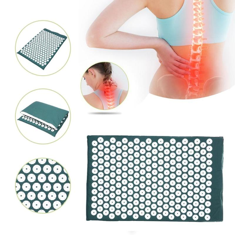 Relief Body Stress Pain Acupressure Massager Cushions Back Spike Yoga Mats