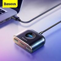 Baseus USB HUB USB 3,0 USB C HUB für MacBook Pro Oberfläche USB Typ C HUB USB 2,0 Adapter mit micro USB für Computer USB Splitter