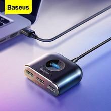 Baseus-Concentrador de red USB 3.0 para computadora, hub de superficie para MacBook Pro, tipo C, con adaptador USB 2.0 con micro-USB para divisor de ordenador