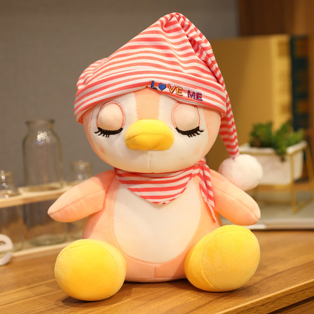 2020 Cute Penguin Plush Toy Sleeping Penuins Peluches Pillow Doll Soft Peluche Toys for Girls Gift Kawaii Puppet Sofa Decor