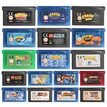 32 Bit gra wideo wkład karta konsoli Crash serii wersja ue do konsoli Nintendo GBA