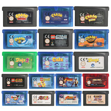 32 קצת משחק וידאו מחסנית קונסולת כרטיס התרסקות סדרת האיחוד האירופי גרסה עבור נינטנדו GBA
