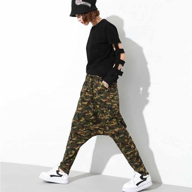Bayan spor pantolon Harajuku Hip Hop pantolon Baggy Sweatpants Harem kamuflaj pantolon Streetwear kadın Joggers Moda Mujer 2020