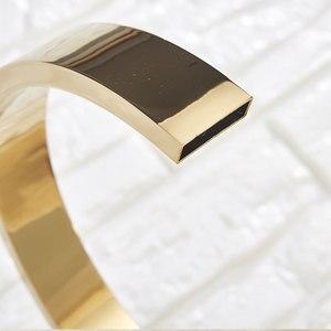 Image 3 - Goldenก๊อกน้ำอ่างล้างหน้าก๊อกน้ำร้อนและเย็นสามหลุมสองจับผสมTap Deck Mount Wash Tub Fauctes