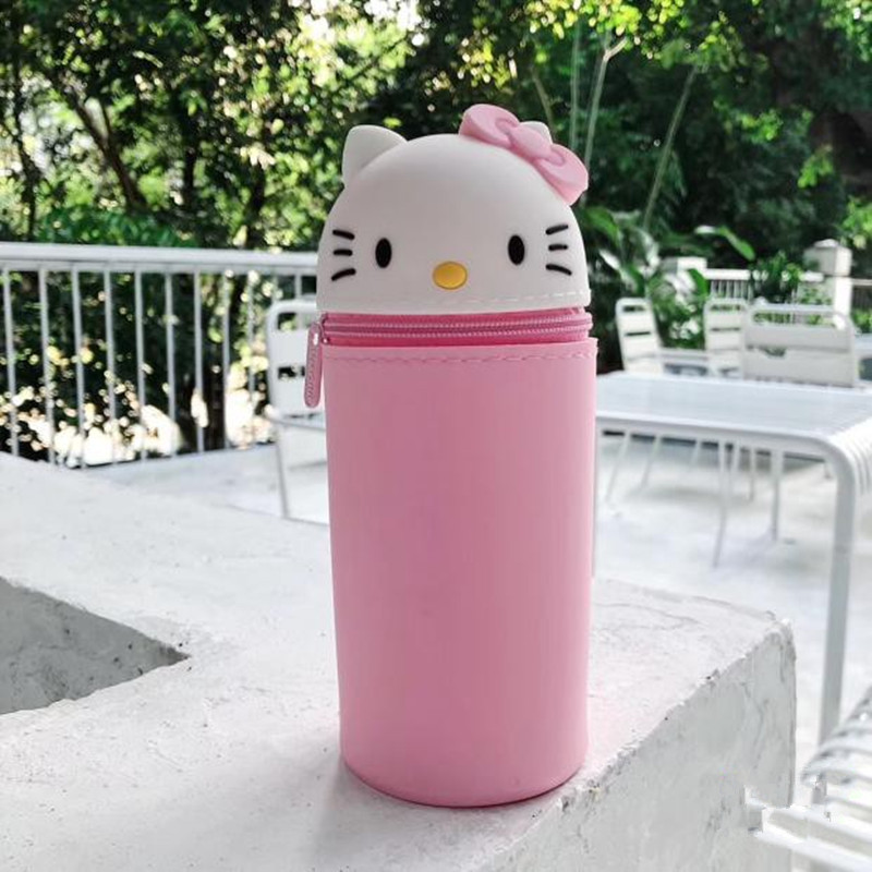 Women Cosmetic Bags Ladies Zipper Makeup Bag Silicone Purse Travel Neceser Beauty косметичка Wash Pouch Kids Cartoon Pencil Bag