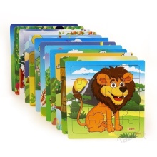 Small puzzle children's puzzle 20 pieces wooden forest animal story idiom toy puzzle classic puzzle education and learning