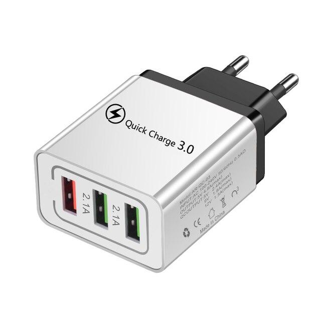 Chargeur rapide 3.0 USB QC3.0 QC chargeur rapide de téléphone USB pour Xiao mi mi Note 10 iPhone 11 Pro chargeur de téléphone portable