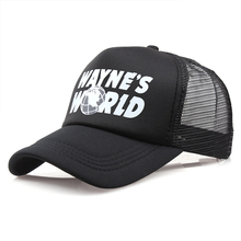 Wayne's World Mesh Hat Brand Snapback Cotton Baseball Cap Men Women Hip Hop Dad Trucker Hat Dropshipping cheap VORON Adult Unisex Casual Adjustable WayneWorld One Size Print Baseball Caps