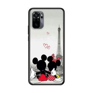 Image 5 - Mickey Minnie en Londres para Xiaomi Redmi Nota 10 10 10 10S 9 9T 9S 9Pro Max 8T 8Pro 8 7 6 5 Pro 5A 4X 4 suave negro teléfono caso