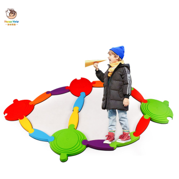 цена на 16Pcs Baby Balance Board Toy Tactile Board Children Sensory Integration  Training Canoe Bridge Island River Indoor Outdoor Toys