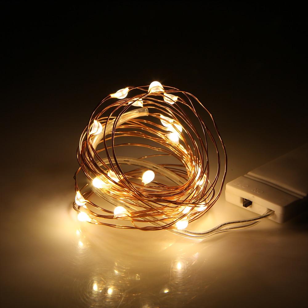de cobre led luzes da corda iluminação