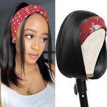 Stirnband Perücken Synthetische Gerade Kurze Bob Synthetische Perücke für Schwarze Frauen Einfach zu Tragen 8 10 12 14 zoll