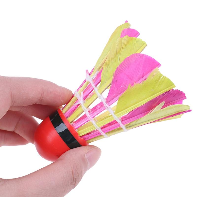 11Pcs Colorful Professional Sport Training Feather Shuttlecocks Badminton Ball