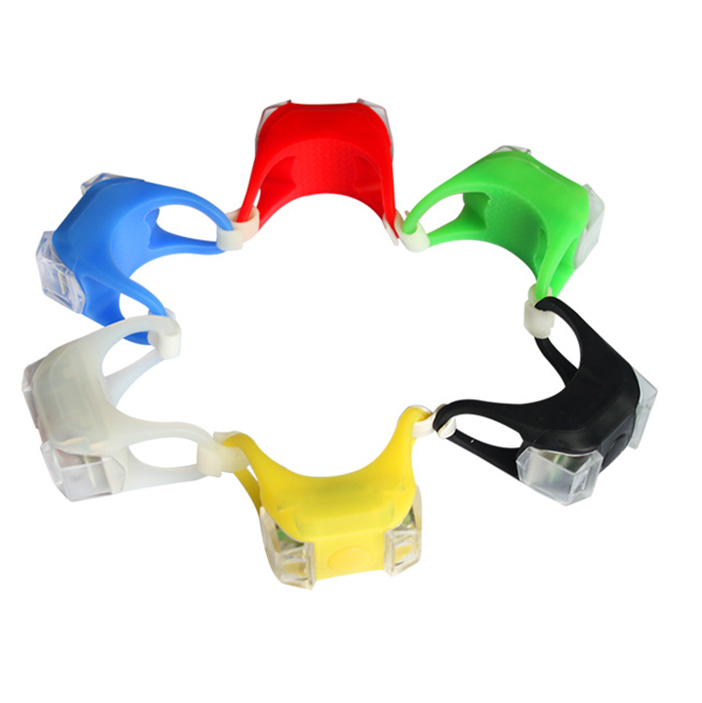 Bicycle Light Waterproof Silicone LED Head Front Rear Light Bike Wheel Lights Headlight title=