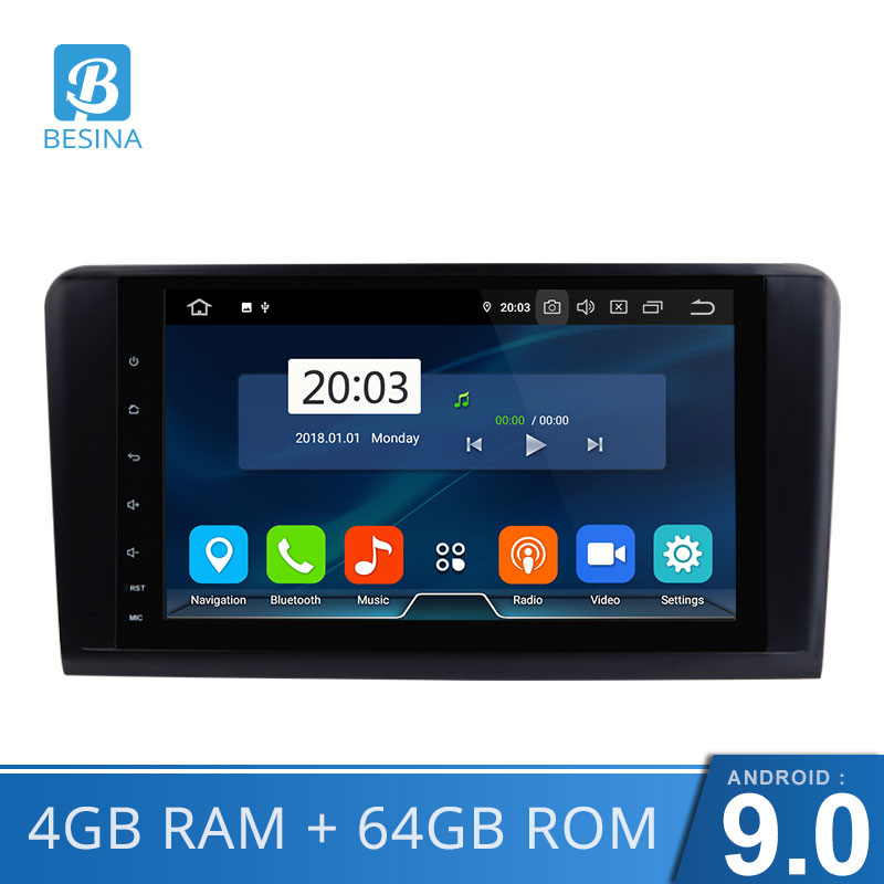 Besina 2 Din Car Radio For <font><b>Mercedes</b></font> Benz <font><b>ML</b></font> W164 ML350 ML500 GL X164 GL320 Car Multimedia Player GPS Auto audio WIFI Stere image