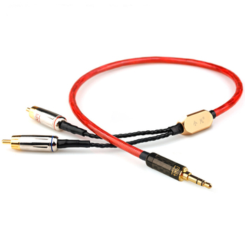 Xiao Fan  C06 RCA Audio Cable  Amplifier Connection Line  3.5mm to 2RCA    For The An on-board/speakers/ Home Theater /DVD / PC