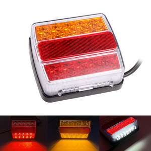 7 Pin Magnetic Trailer Tail Light for 12V caravans horse boxes trailers Truck Rear License plate Light Warning Brake Lamp