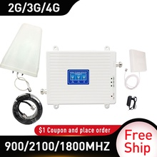 900/1800/2100 Mhz Gsm Dcs Wcdma Lte 4G Booster 2G 3G 4G Tri Band Mobiele Signaal Booster Gain70 4G Versterker Gsm Cellular Repeater
