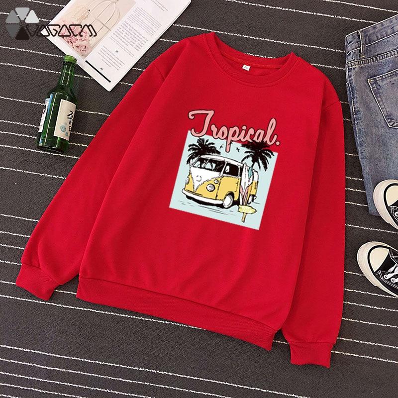 2019 Autumn Winter Women Pullover Cartoon Print Fleece Sweatshirt Long Sleeve O neck Streetwear Loose Casual Top Plus Size S 3XL in Hoodies amp Sweatshirts from Women 39 s Clothing