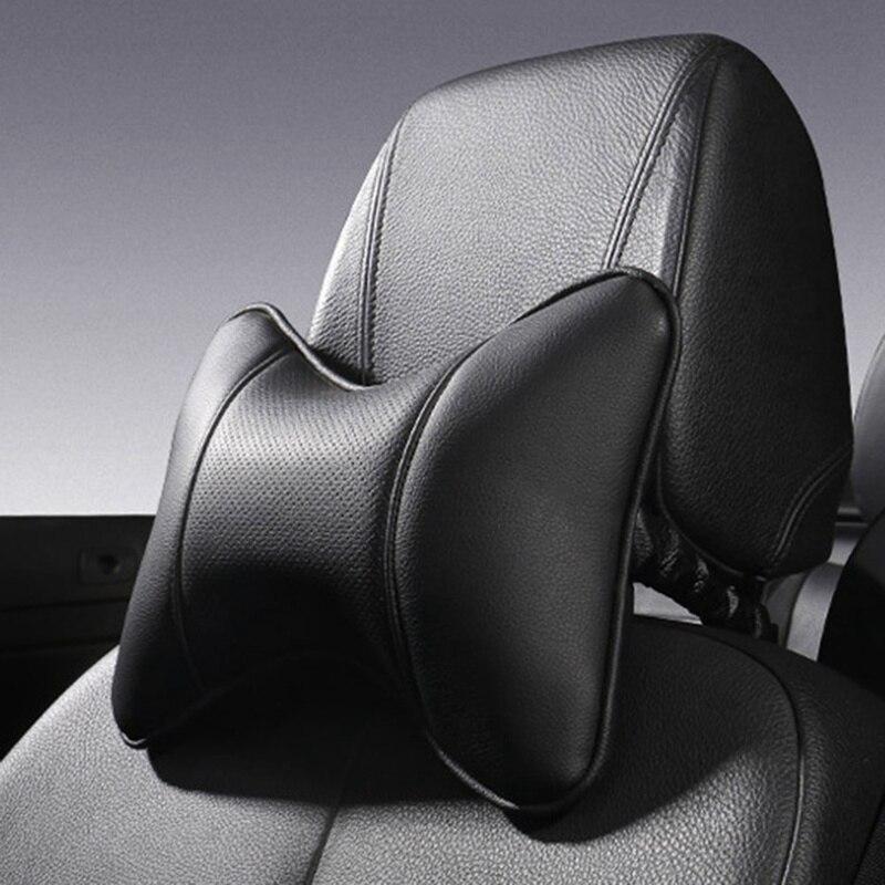 سيارة مسند الرأس بالمقعد وسادة أربعة الموسم العالمي الرقبة وسادة داعم رأس حشوة وسادة القيادة رئيس الراحة بولي Leather الجلود