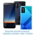Android мобильных телефонов A10 глобальная версия 5,5 дюймовых смартфонов 4G Оперативная память 64G Встроенная память 13MP HD Face ID разблокированный 4 я...
