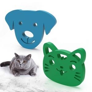 Mini removedor de pelo para mascotas cepillo pegajoso de dibujos animados cepillo pegajoso lavable herramienta removedor de pelo de perro gato reutilizable para ropa sofá