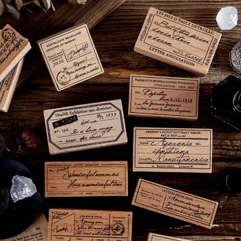 Vintage list osobisty najlepsze życzenia notatki znaczek DIY drewniane i gumowe stemple do scrapbookingu papiernicze scrapbooking standardowy znaczek tanie i dobre opinie xinaher LD45525761 Drewna Dekoracji