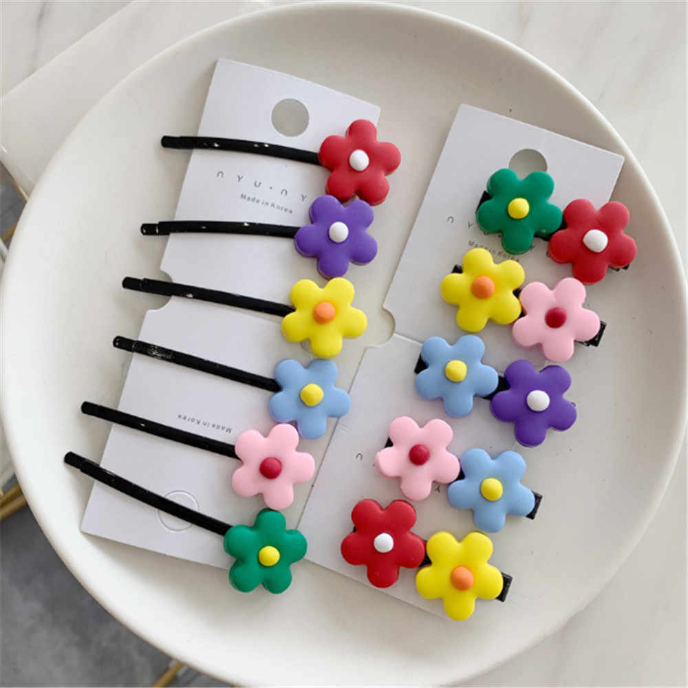 1 pc Candy color hair clips flower hairpin baby child duckbill clip side clip headwear hair Accessories 2019 NEW