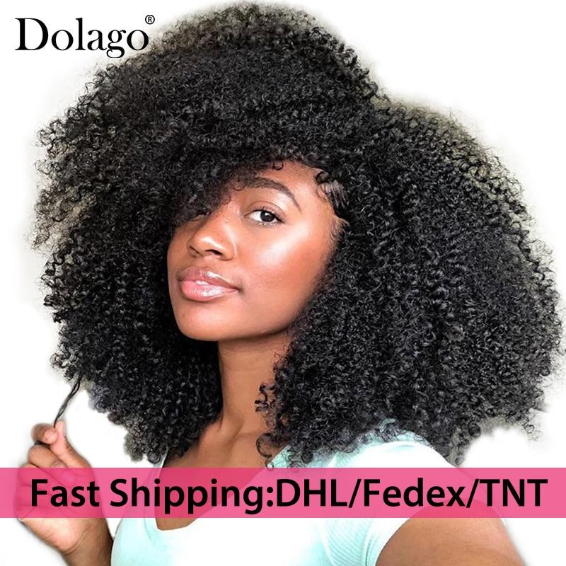 Clip In Human Hair Extensions Afro Kinky Curly Brazilian Remy Hair 100% Human Hair Natural Black Color Rosa Queen metalowe skrzydła dekoracyjne na ścianę