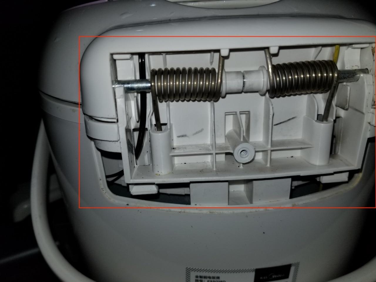 家里美的电饭锅E1故障代码无法使用,自己动手修复插图5