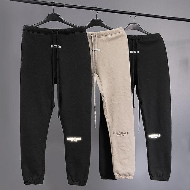 2020 Best Quality Fog Essentials Logo Printed Women Men Jogger Pants Sweatpants Hiphop Streetwear Loose Fit Men Casual Pants 1