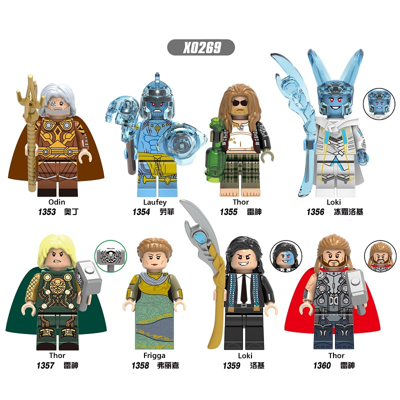 Single Sale Building Blocks Super Heroes Thor Loki Odin Laufey Frigga Bricks Learning Figures Toys For Children X0269