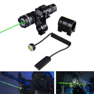 Image 5 - 強力な戦術グリーン/レッドドットレーザーサイトレールバレルスコープマウントピカティニーライフル狩猟用のリモート圧力スイッチ