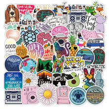 10/30/50PCS Color Small Fresh Personality Graffiti Cute Animal Notebook Suitcase Skateboard Guitar Waterproof Sticker Wholesale