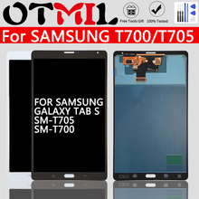 8 4 #8243 For SAMSUNG Galaxy T700 T705 LCD Touch Screen With Frame Digitizer For Samsung GALAXY Tab S Display SM-T705 Tablet Display cheap Tablet LCD 7~10 Inch Capacitive Screen For Samsung GALAXY Tab S Display SM-T705 T700 White Black All check before shipment