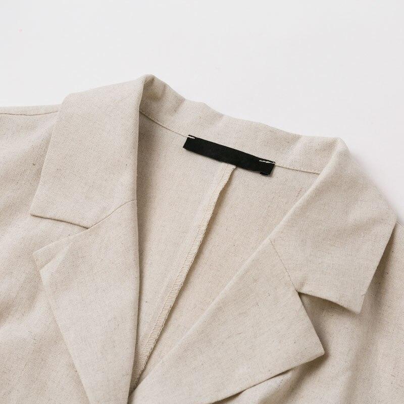 Elegant Button Belt Tie Linen Short Jumpsuit Romper 7