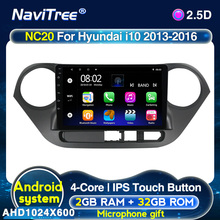 Microphone Multimedia Navigation Gps-Radio Android-10.0 Hyundai I10 Dvd-Player Stereo Car