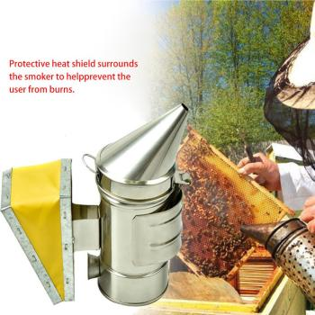 Beekeeping tools Stainless Steel Manual Bee Smoke Transmitter Kit Tool Apiculture Smoker Sprayer