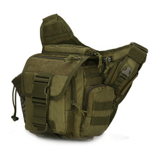 Mens Military Tactical Bag, Molle Army Sport Shoulder Outdoor Hiking Travel Climbing Bags Crossbody Bag