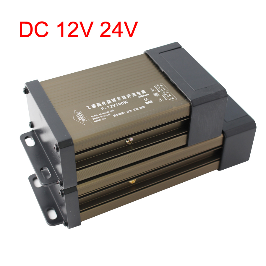 12 V 24 V Rainproof Power Supply 12V 24V 5A 8A 12A 16A 20A 33A Lighting Transformers Led Outdoor Power Supply Adapter LED Driver