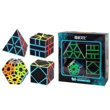 CuberSpeed MFJS MeiLong karbon Fiber olmayan-kübik hediye kutusu megaminxed kare tek skewbed pyraminxed hız küp