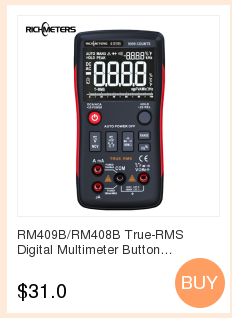 H32f7ffd56f1a4ab696520205b49141e9s RICHMETERS RM113D NCV Digital Multimeter 6000 counts Auto Ranging AC/DC voltage meter Flash light Back light Large Screen 113A/D