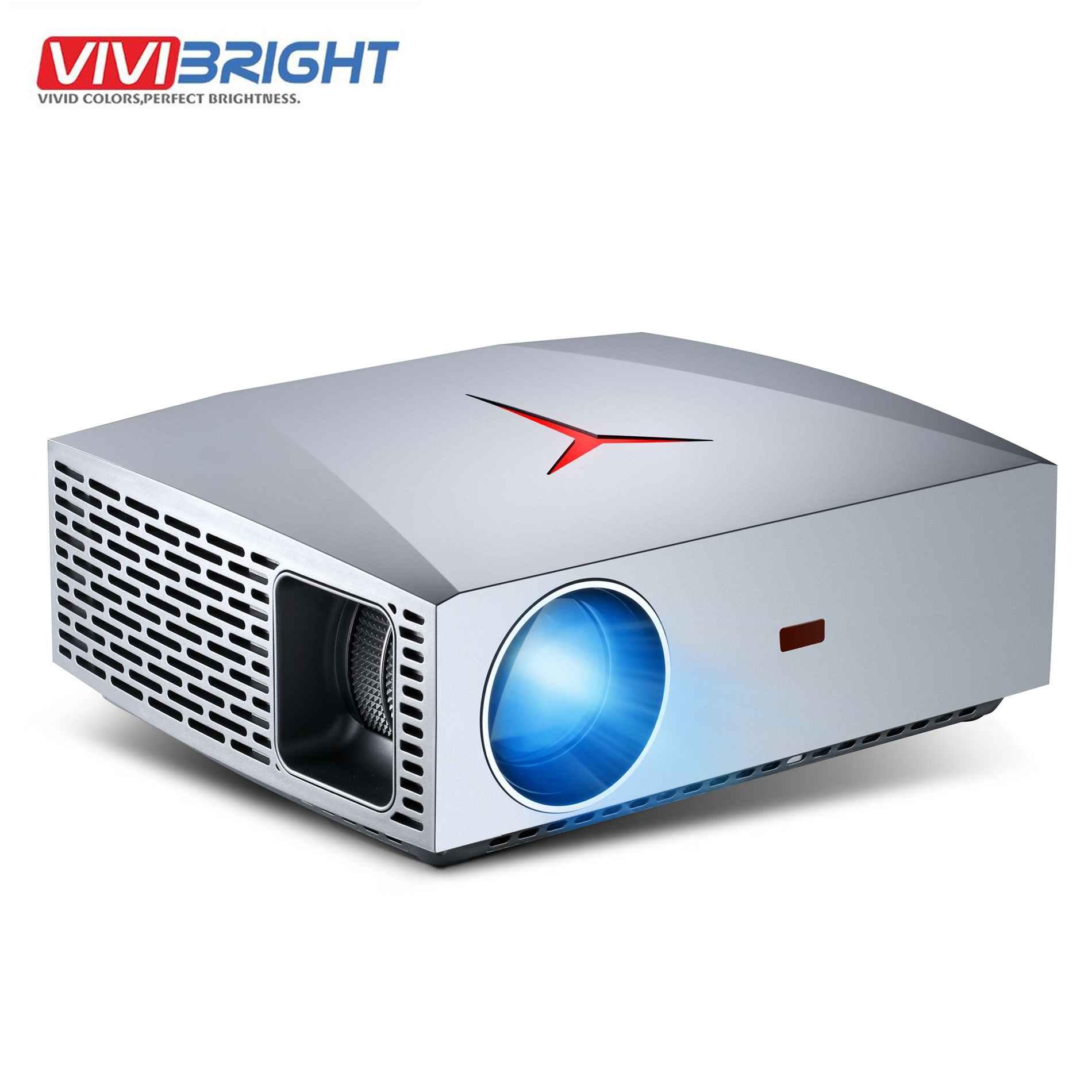 VIVIBright F40UP projektor Full HD 1080P Android wersja 6.0 2 + 16GB WIFI Bluetooth 3D film rzutnik tv stick PS4 HD