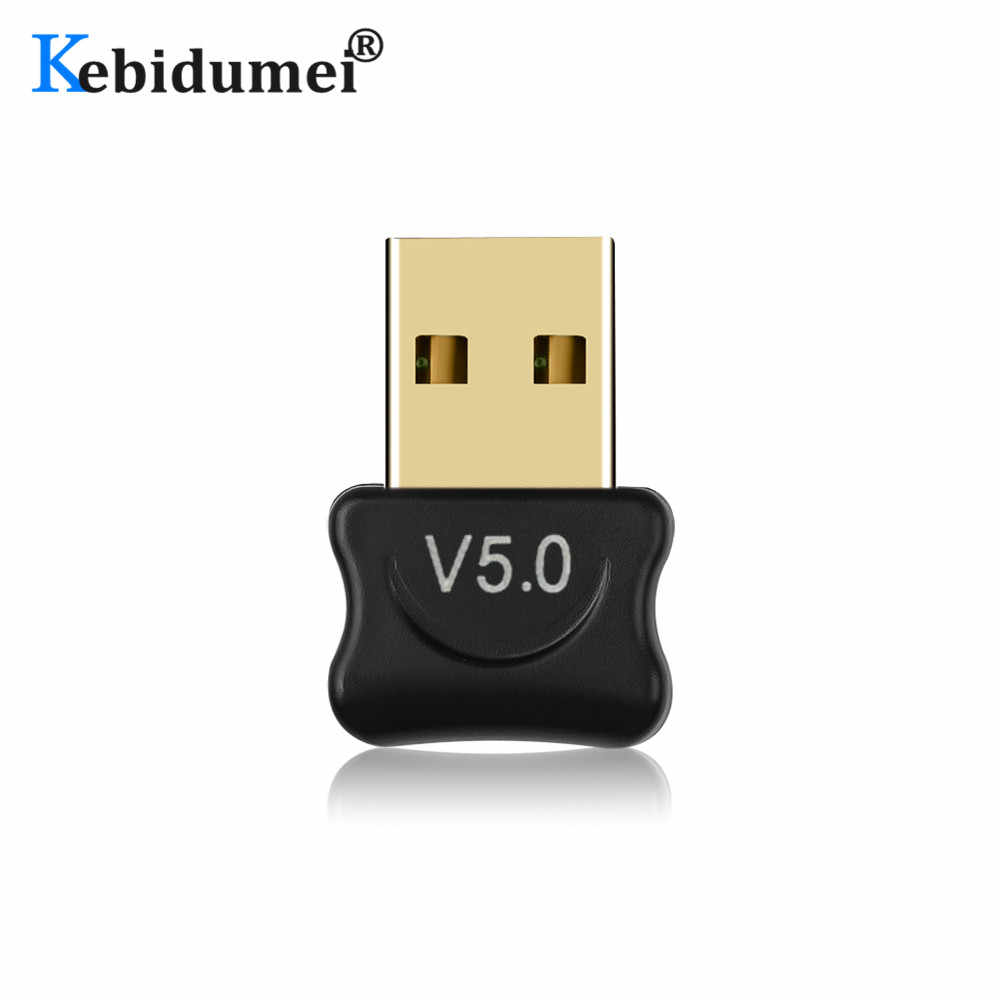 Kebidumei Bluetooth 5.0 Adapter for Computer PC Wireless USB Bluetooth Transmitter Receiver Dongle Adapter For Mouse Keyboard
