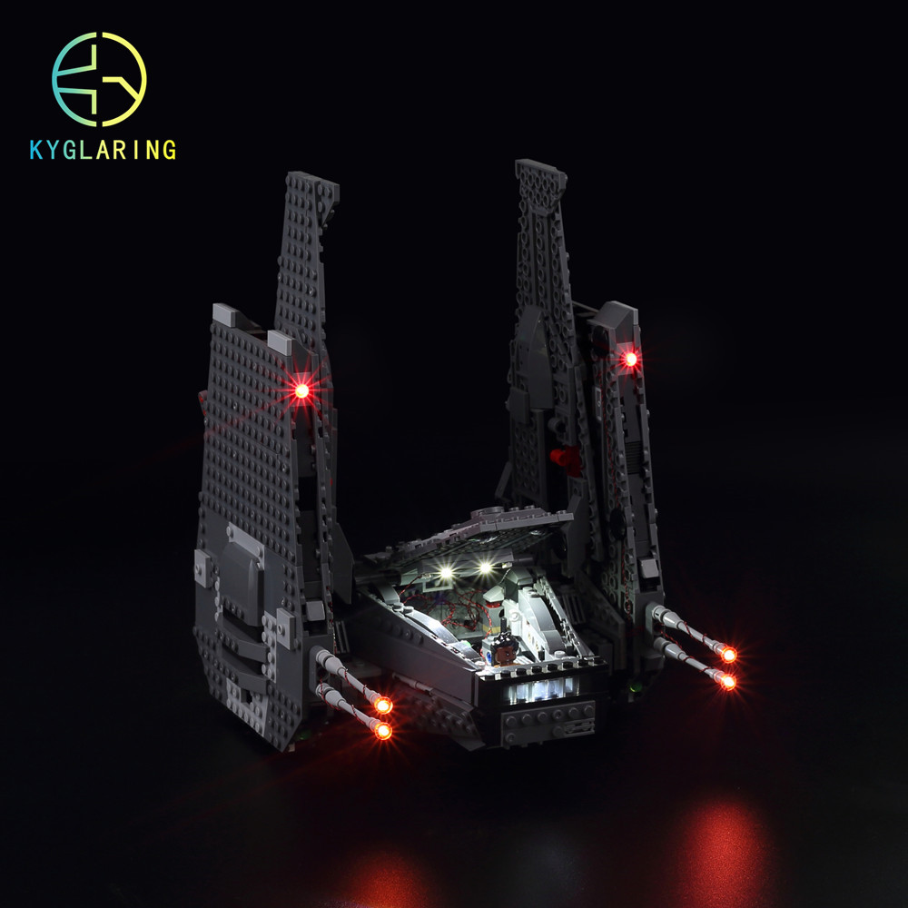 Led Light Kit For Lego And  The Kylo  Command Shuttle Model Building Compatible With 75104 And 05006
