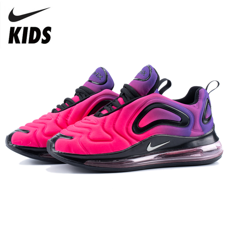 Nike Air Max 720 Kids Shoes Original New Arrival Children Running Shoes Comfortable Sports Air Cushion Sneakers #AO9294-005