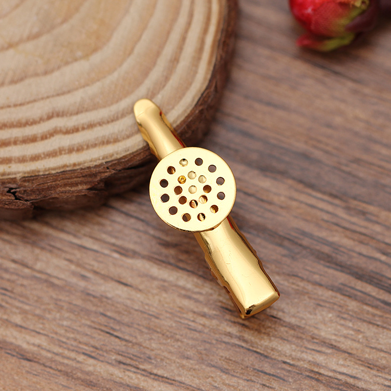 10pcs Brass Alligator Hair Clip Findings Filigree Setting Bezel Bronze 12mm Tray