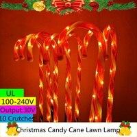 Guirnalda de luces Led para Navidad, 10 muletas, 53CM, 60Led, EU, US, UK, AU, fuente de alimentación