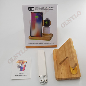 Image 1 - multi function wooden wireless charger Fast charging For Apple iPhone 8 Plus X Wireless Phone Charger For Samsung S6 S7 S9 S8